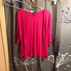 Fushia pink cardigan